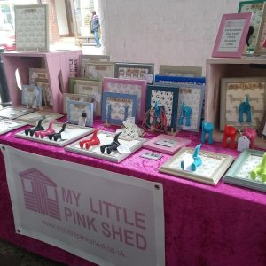 my little pink shed display at events